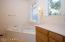 Master Bath is a clean slate with views for you to decorate...