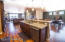 Kitchen opens into dining area and great room