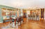 Dining area flows seamlessly into the kitchen