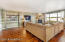 Engineered Hardwood throughout the great room, dining area & kitchen