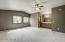 Huge master bedroom has room for larger furnishings