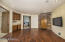 Downstairs Family/ Game Room with small kitchenette