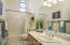 Spacious bathroom with new gorgeous tile floors