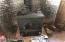 living room wood stove to keep you warm.