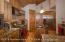Gourmet kitchen with high end Monogram appliances.