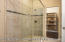 Gorgeous custom shower. One large walk in closet off the bathroom and one large closet in the master.