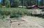 Back yard dog run and garden area