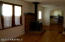 Back family room with wood stove