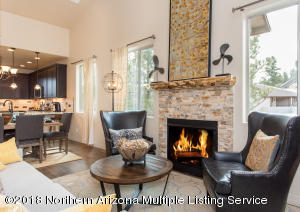 *Model Living Room and Fireplace