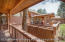 view of back-deck from hot-tub deck