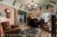 dining room/office with exposed beams