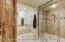 Master bathroom steam shower and Tub