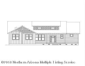 Artist Rendering supplied by Holdsworth Construction INC. Final plans must be approved by the City of Flagstaff and HOA. Home is not built this is a vacant lot.