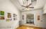 Vaulted Living Room w/Skylights