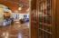 built in wine room