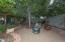 Backyard upper garden sitting area