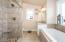 Master bath, extra deep soaker tub, 2 sink areas