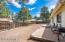 Paver patio, fenced backyard and stunning views of Mt. Elden