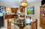 Formal dining area/ breakfast nook is conveniently just off the kitchen.