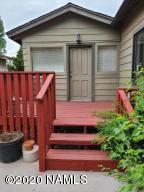 Front deck. Door leads into kitchen.