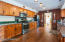 The gorgeous kitchen was recently remodeled.