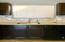 Solid Slab Granite; glass Backsplash Tiled / Espresso Cabinets