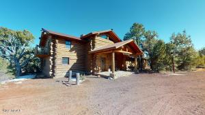 Spectacular True Log Custom Built Home on 10 Acres!