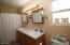 Dual sinks. Tub/Shower combo