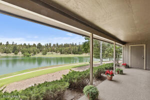 Back Patio with View of the lake and Mt Elden