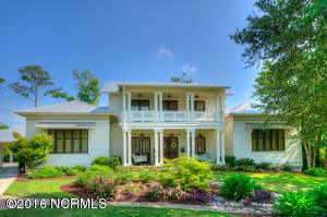Beautiful custom home with double porches.