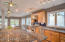 Large Kitchen island opens to the Great Room