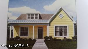 Ranch Plan! Rendering depicts front elevation of home under construction