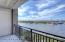 30 feet of balcony overlooks the river