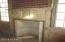 restored original mantle in dining room