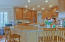 ENJOY CASUAL MEALS AT THIS LARGE BREAKFAST BAR
