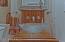 HALF BATH WITH CUSTOM VANITY & GLASS BOWL SINK