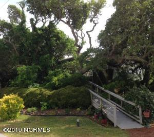 Surrounded with Sea Oaks, house sits up on a bluff