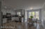 Kitchen & Dining Area in Picturesque Setting w/Ceramic Tiled Floor