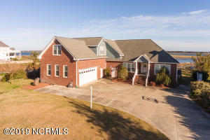 Stately Brick Front Elevation with lots of parking