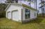 Double garage and workroom