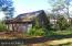 Brick garage: side/back view