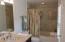 MASTER CERAMIC TILE BATH- SHIPLAP WALLS & CEILING