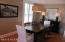 DINING ROOM, HARDWOOD FLOORS, SHUTTER WINDOW TREATMENTS
