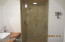 CERAMIC TILE SHOWER WITH SHIPLAP WALLS & CEILING UPSTAIRS HALL BATH
