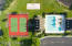 Tennis court and pool