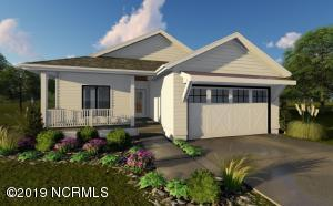Rendering of the home. This is a drawing, builder will determine the color and finishes of home.
