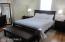 MASTER BEDROOM SUITE WITH HARDWOOD FLOORS, CEILING FAN