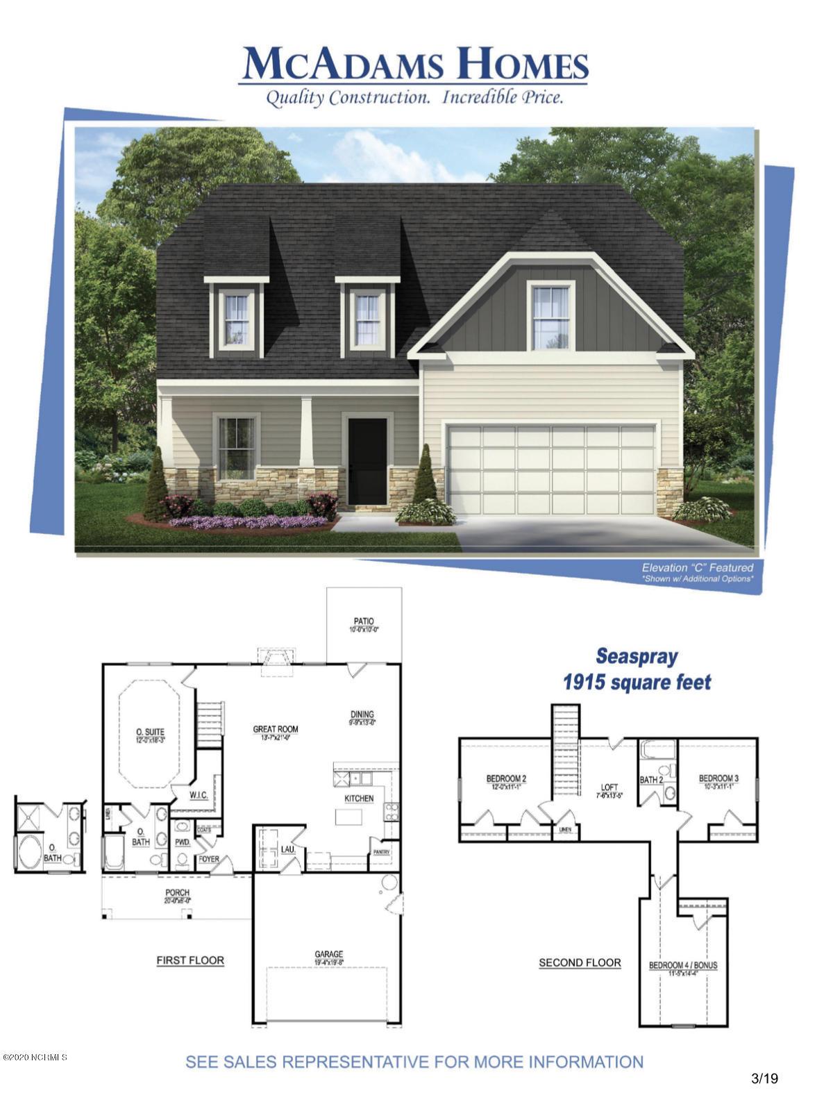 1420 Branch Row, Wilmington, North Carolina 28405, 4 Bedrooms Bedrooms, ,2 BathroomsBathrooms,Residential,For Sale,Branch,100235117