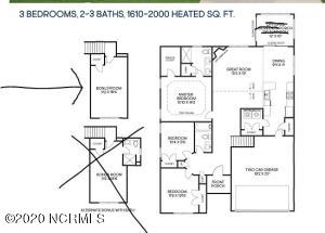 Danforth floor plan with covered porch