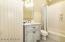 2ND BEDROOM - BUNKROOM BATH- BEADED BOARD WAINSCOTING W/CERAMIC TILE TUB SHOWER